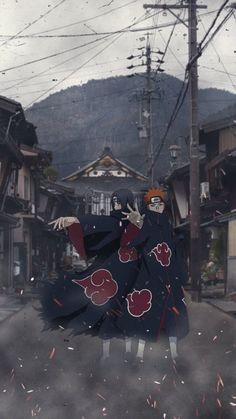 Itachi Uchiha and Pain - Naruto Shippuden Naruto Shippuden Sasuke, Naruto Kakashi, Anime Naruto, Fan Art Naruto, Pain Naruto, Anime Akatsuki, Wallpaper Naruto Shippuden, Naruto Wallpaper, Boruto