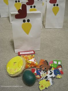 Chicken Birthday Party goodie bags
