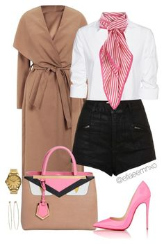 """""""Chic"""" by efiaeemnxo ❤ liked on Polyvore featuring Steffen Schraut, Topshop, Fendi, Weekend Max Mara, Christian Louboutin, Nixon, Dean Harris, women's clothing, women and female"""
