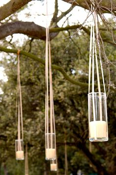 Tea candles, hung fr