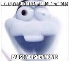 Image result for never pause a disney movie