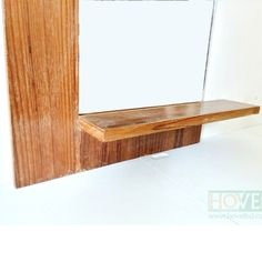 Half Border Mirror Frame With Small Shelf. Kleine RegaleRegal