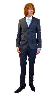 BEN SHERMAN 60s Mod Velvet Collar 3 Button Suit   atomretro.com