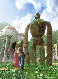 Laputa: Castle in The Sky Studio Ghibli Art, Studio Ghibli Movies, Hayao Miyazaki, Totoro, Howl And Sophie, Grave Of The Fireflies, Japanese Film, Castle In The Sky, Nerd Love