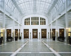Post Office Savings Bank Building in Vienna, designed by Otto Wagner.