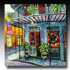 New Orleans Painting New Orleans ART French Quarter Painting B. Sasik. $1,289.00, via Etsy. - lovely colorful image of a beautiful city...