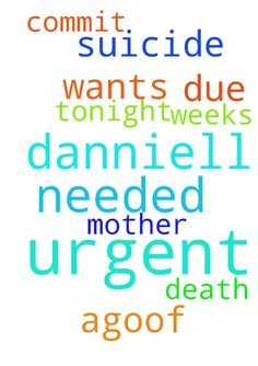 urgent prayer needed for danniell who - urgent prayer needed for danniell who wants to commit suicide tonight due to death 6 weeks ago.of her mother Posted at: https://prayerrequest.com/t/Cpz #pray #prayer #request #prayerrequest