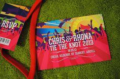 music themed wedding | music festival ticket theme wedding-invites
