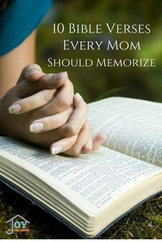 Great Bible verses for moms, who are their families biggest influencers. Stay encouraged, while building a strong faith for a godly influence in their daily lives.  via /joyinthehome/
