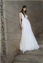 Vestido de novia cargado de tul, de Vera Wang