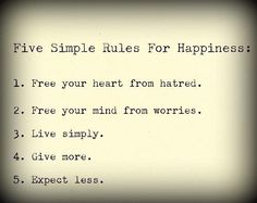 Rules of Happiness