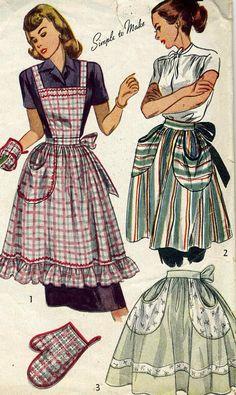 Vintage McCalls 2295 Misses Full Bib Apron Half by RomasMaison, $24.00.  Love this pattern. :-)