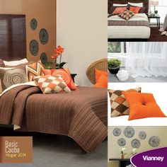Vianney 2014: Edredón Basic Caoba y complementos