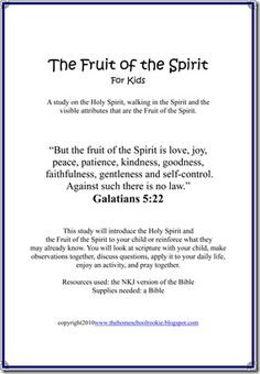 Fruit of the Spirit Study