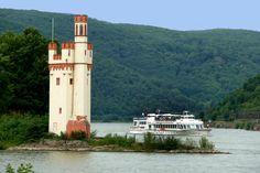 Binger Mäuseturm / Rhein von Mohr Wilfried