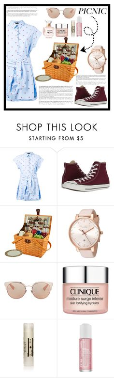 """""""Untitled #60"""" by saghar1 ❤ liked on Polyvore featuring Boutique Moschino, Converse, Picnic at Ascot, Ted Baker, Christian Dior, Clinique, EiR NYC, Peter Thomas Roth and Refuge"""