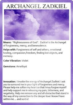 Invoking the Archangels Oracle Cards: Sunny Dawn Johnston, Kris Voelker Designs Archangel Zadkiel, Archangel Prayers, Angel Quotes, Angel Sayings, Righteousness Of God, Meditation, I Believe In Angels, Angel Numbers, Angel Cards