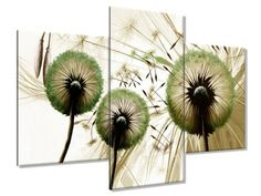 Obraz drukowany Dmuchawce w zieleni widok 90x60cm