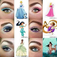 Disney princess eye makeup :)Fablash.net