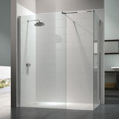 Merlyn 8 Series Walk In Enclosure with End Panel - 1200 x 800mm