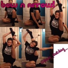 Hi! Do you need help on your bow n arrow? Well here you go!:) this is a great stretch that helps you build arm strength that will help you be able to pull your bow farther! Also it really helps to increase your bow flexibility. I hope this will help you guys a lot!❤️ ∞Meg