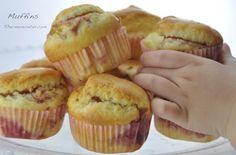 Muffins de fresa - http://www.thermorecetas.com/2013/12/19/muffins-de-fresa/