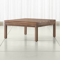 Parsons Reclaimed Wood Top/ Elm Base 36x36 Square Coffee Table - Crate and Barrel