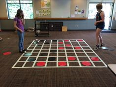 """checkers game board on wall with sign that says """"are you checking God's word daily? Library Activities, Youth Activities, Activity Games, Fun Games, Library Games, Camping Activities, Party Games, Teen Programs, Youth Programs"""