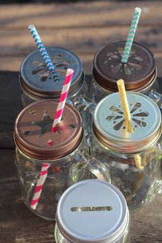 LOVE!!!! Cool Mason Jar Lids!!!!!!!
