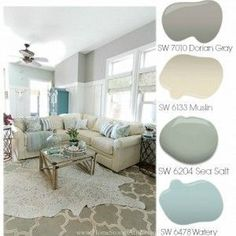 Tips on starting a room makeover. Paint color palette