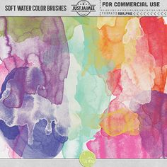 Soft Watercolor Brushes Commercial Use