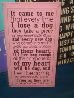 """""""It came to me that everytime I lose a dog, they take a piece of my heart with them. And every new dog that comes into my life gifts me with a piece of their heart. If I live long enough all the components of my heart will be dog, and I will become as generous and loving as they are.""""   #quote #pet #dog"""