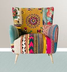 patchwork chair. Love.