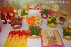 Butterfly Birthday Party - Butterfly lunch food display - eventstocelebrate.net