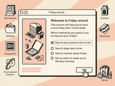 Welcome to friday wizard designed by Gustavo Zambelli. Connect with them on Dribbble; Layout Design, Web Design, Design Trends, Pixel Design, Memphis Design, Aesthetic Template, Pose, Instagram Design, Magazine Design