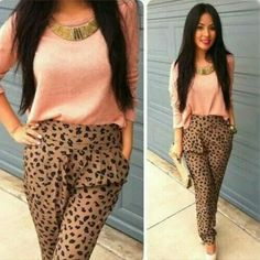 Cool leopard pants outfits