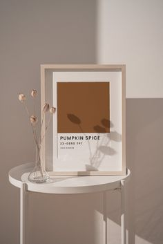 Pumpkin Spice Poster Autumn Pantone Color Print Autumn Wall | Etsy Museum Poster, Pretty Letters, Modern Typography, Home Office Decor, Artistic Photography, Pantone Color, Pumpkin Spice, Printable Art, Line Art