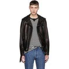 #SSENSE - #Schott Schott Black Leather Perfecto Jacket - AdoreWe.com