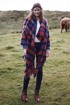 #Tartan #Blanket #Coat #Anthropologie