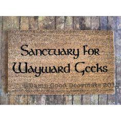 Sanctuary for Wayward Geeks- doormat geek stuff on Etsy, $49.18 AUD