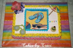 Cake Gallery :: Birthday Cakes :: flip_flops_beach