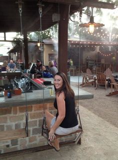 Bar swings- when I win lotto I'm totally building a bar with swing seats!