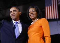 Democratic presidential candidate US Senator Barack Obama stands with his wife Michelle during a primary results rally in Raleigh, North Carolina, May 06, 2008. (EMMANUEL DUNAND/AFP/Getty Images)  via @AOL_Lifestyle Read more: https://www.aol.com/article/news/2017/02/11/harvard-professor-who-taught-obamas-michelle-should-have-been-president/21712038/?a_dgi=aolshare_pinterest#fullscreen