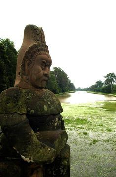 Bridge at Angkor Wat  #Cambodia