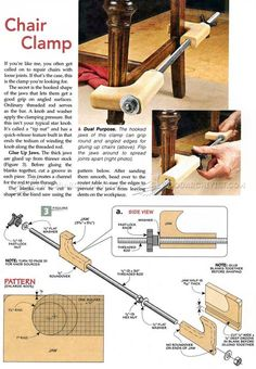 DIY Chair Clamp - Clamp and Clamping Tips, Jigs and Fixtures | WoodArchivist.com