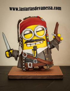 Minion Jack Sparrow - Cake by Vanessa Rodríguez - For all your cake decorating supplies, please visit craftcompany.co.uk