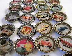 Bottle Caps Galore! by HA! Designs - Artbyheather, via Flickr