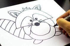 How to draw a raccoon!