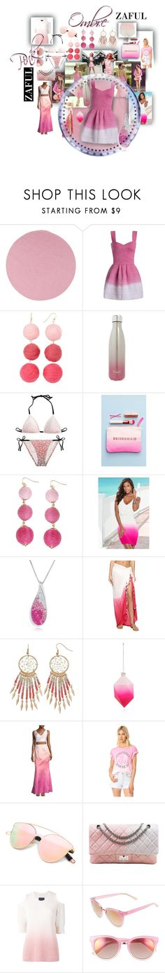 """pink ombre"" by caroline-buster-brown ❤ liked on Polyvore featuring Colonial Mills, Taolei, S'well, ALPHABET BAGS, Humble Chic, Venus, Amanda Rose Collection, Echo Design, Cody Foster & Co. and Laundry by Shelli Segal"