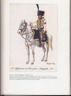 Hussars: Plate 48: 11th Hussar Regiment, Trumpeter, 1811.
